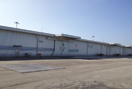 Outside shot of CEA Project Logistics free trade zone warehouse