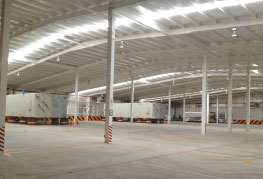 Inside cargo shot of CEA Project Logistics Free trade zone warehouse