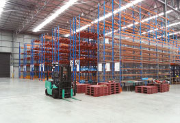 Internal shot of CEA Project Logistics Free Trade Zone Warehouse