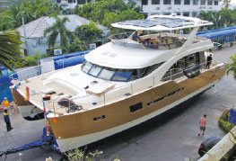 CEA Project Logistics - Heliotrope 65 Catamaran Transport and Launch 1