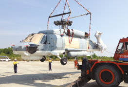 CEA Project Logistics heavy lift of seahawk helicopter utapau airbase thailand