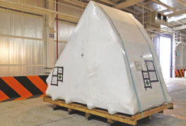 Shrink Wrapping Services - CEA Project Logistics - Cargo wrapped 2