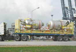 Project Cargo being transported to Laem Chabang Port