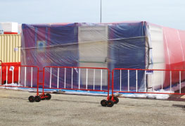 Cargo in yard under fumigation process