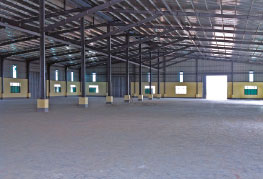 inside photo of CEA Project Logistics Myanmar Thilawa Warehouse