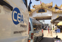 CEA Prime mover crossing the Thai Myanmar border Mae Sod