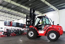 CEA Project Logistics Myanmar forklift at work