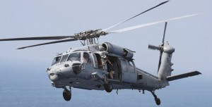 Thai Navy Seahawk Helicopter in flight