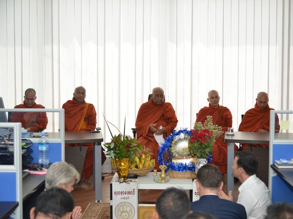 All monks sat together