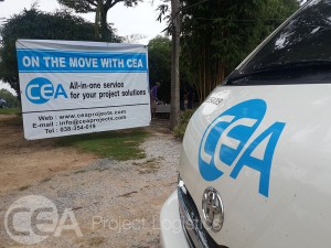 CEA Project Logistics Minivan and Banner