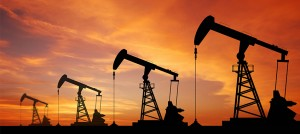 Stock photo of oil wells