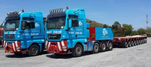 Heavy Transport - CEA Project Logistics - MAN 640 and 540 Prime movers in yard