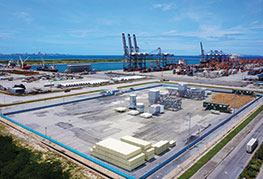 Aerial photo of CEA Free Trade zone in Laem Chabang Port