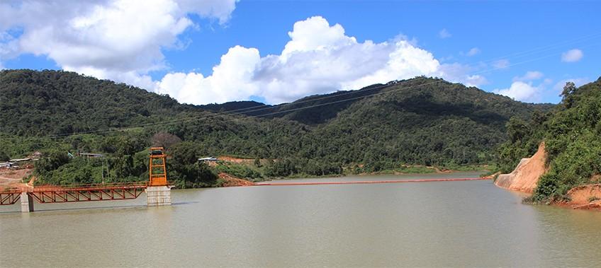 hydro power dam in laos