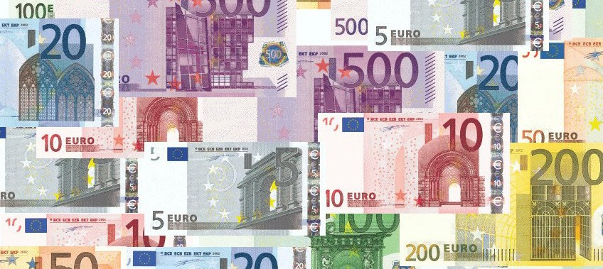 image of euro notes in use