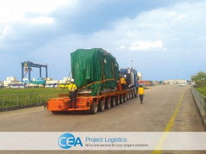 Generator in transportation on trailer Myanmar
