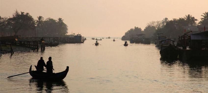 River in Sittwe Myanmar