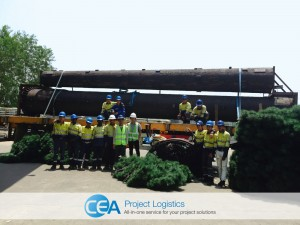 Team photo with trailer and monopoles
