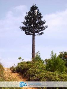 monopole tree like tower fully erected
