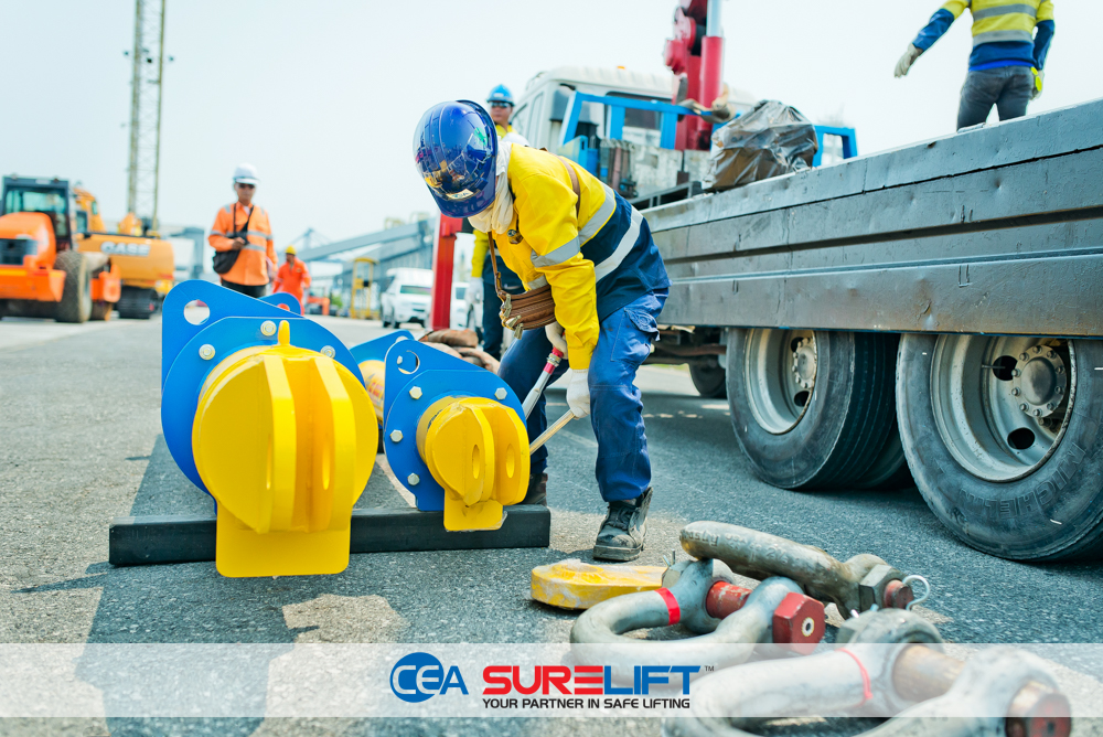 CEA Surelift Spreader Beam being assembled at port