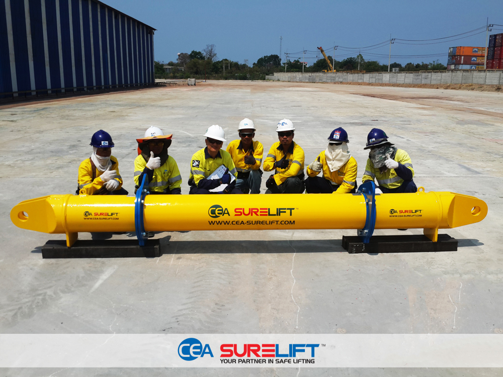 CEA Surelift Spreader Beam staff training on assembly