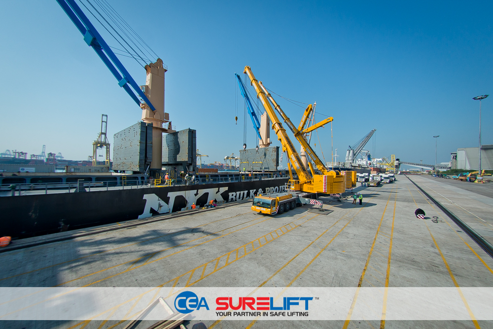 CEA Surelift Spreader Beam at work in laem chabang port