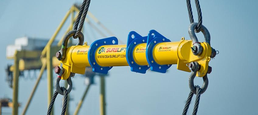 CEA Surelift Spreader Beam in use Laem Chabang Port