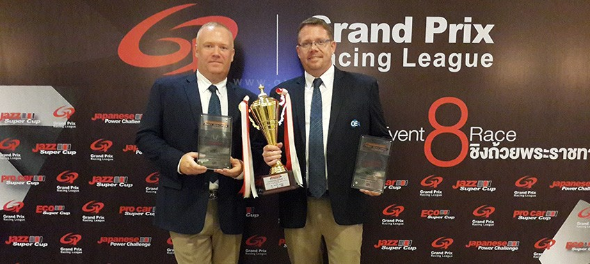 Earl Brown & Thomas Raldorf of TR Motorsport with their 2015 awards