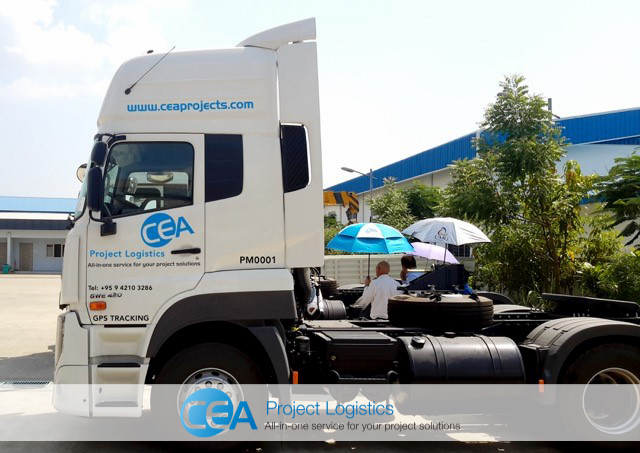 Side profile of CEA UD Quester Truck