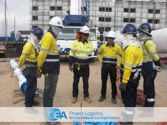 CEA Project Logistics Water Tower Installation - tool box talk