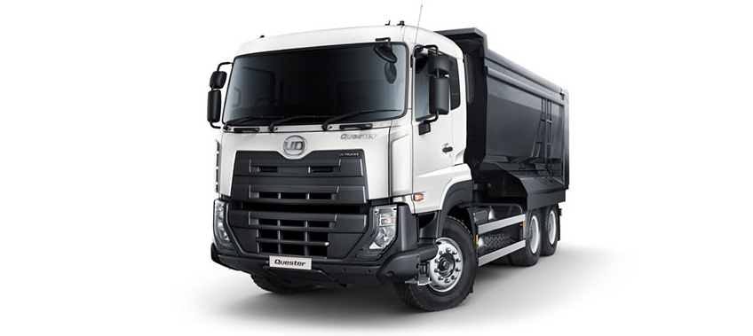 Image of White UQ quester truck with trailer