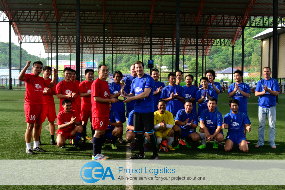 CEA Project Logistics - Football match with Royal Thai Police