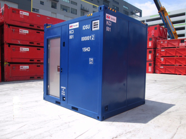 View of outside Swire workshop container