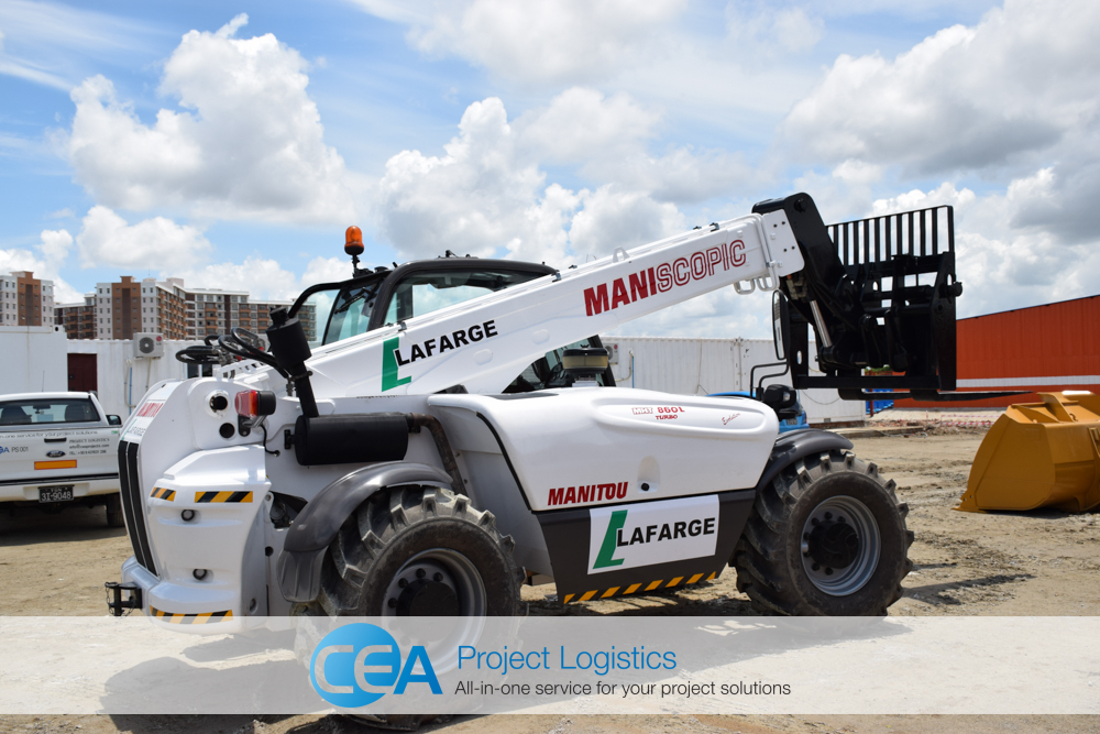 Manitou Telehandler Delivered by CEA Project Logistics