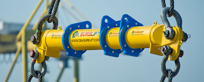 CEA Surelift Spreader Beam in use at Laem Chabang Port