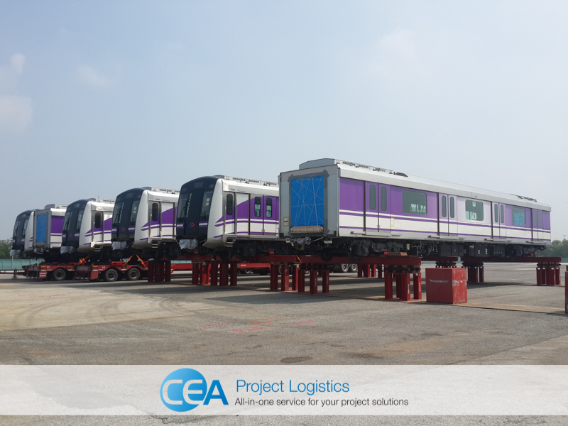 Carriages in storage at CEA Free Trade Zone