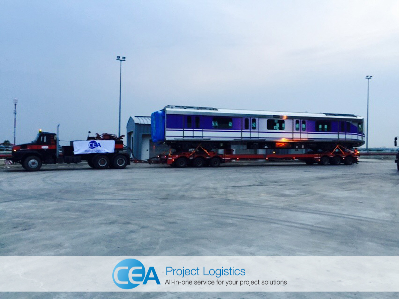 train carriages arrive in Bangkok