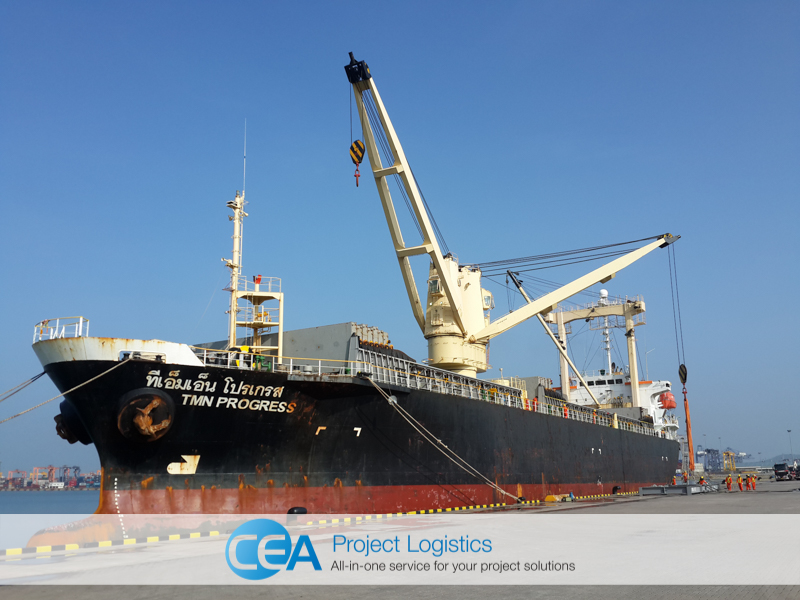 TMN Progress Vessel docked at Laem Chabang port