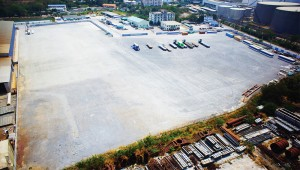 Aerial view of CEA Project Logistics Ao Udom Facility, Sriracha Thailand