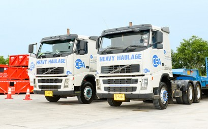 Two CEA Volvo 540 prime movers