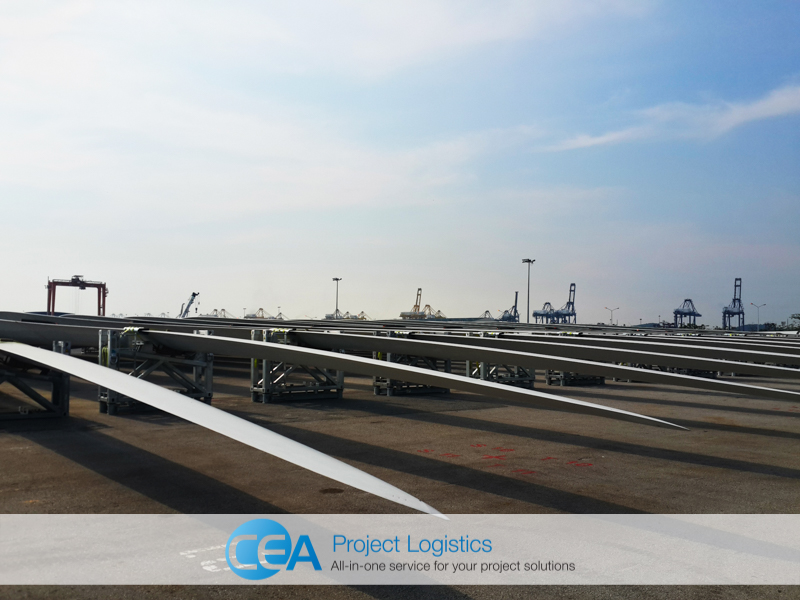 Turbine blades in storage at CEA Free Trade Zone