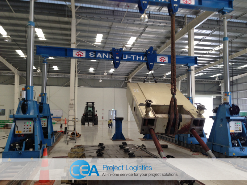 CEA Project Logistics Metal Press Installation