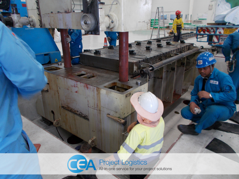 CEA Project Logistics Metal Press Installation