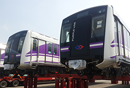 CEA purple line transportation project - Train Carriages in storage at Laem Chabang Port