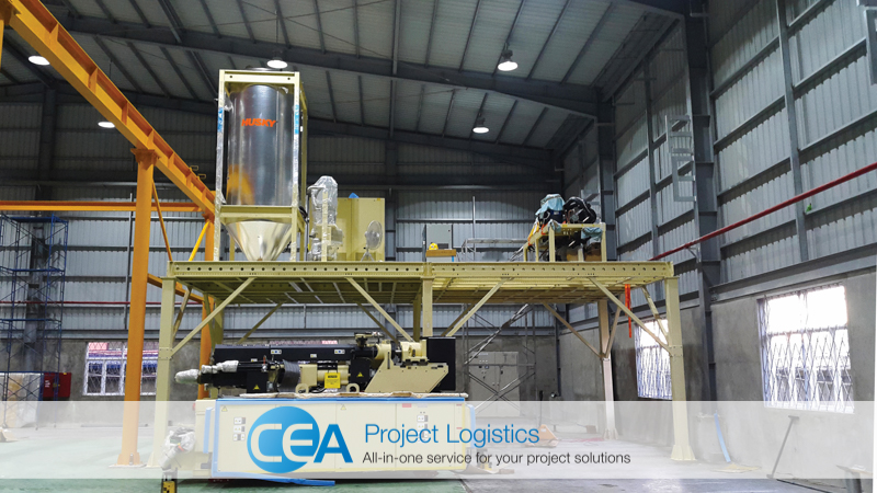 CEA Project Logistics Myanmar - Bottle Plant Installation