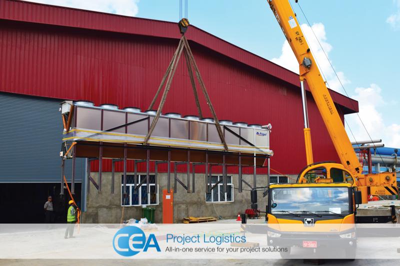 CEA Project Logistics Myanmar - Bottle Plant Installation