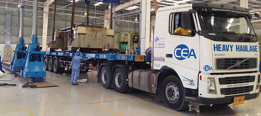 CEA Project Logistics Metal Press Installation 3