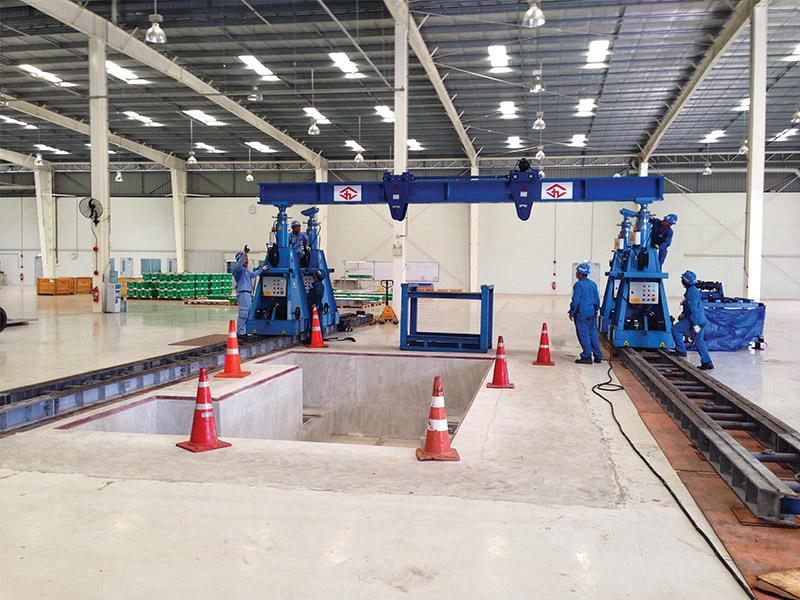 CEA Project Logistics Metal Press Installation 2