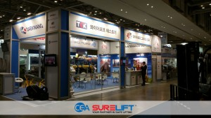 CEA Surelift Spreader Beam at Kormarine Expo on display
