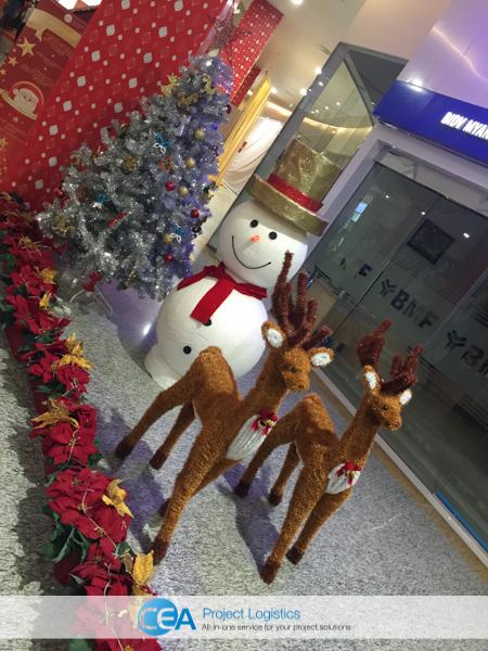 CEA Project Logistics Myanmar - Myanmar plaza christmas decorations